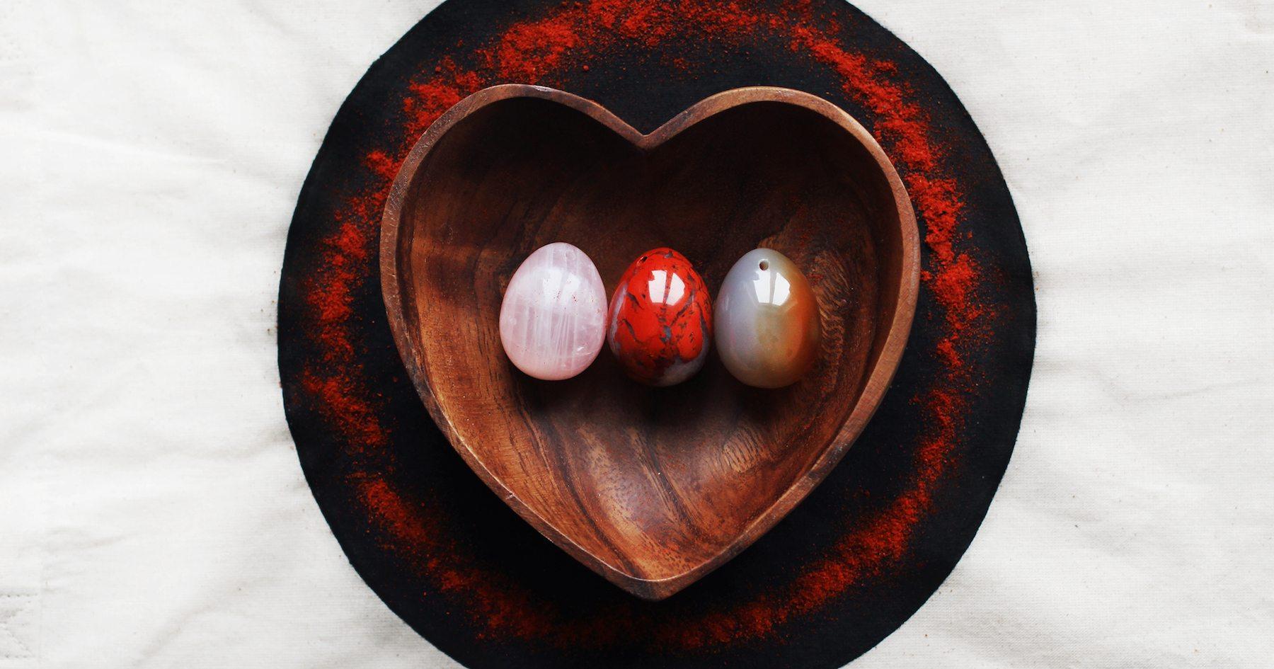 Yoni Vajíčko - karneol růženín jaspis