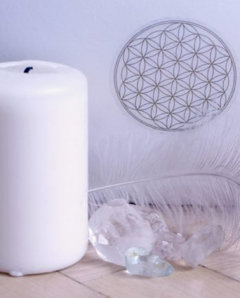 Flower of life transaprent gold sticker
