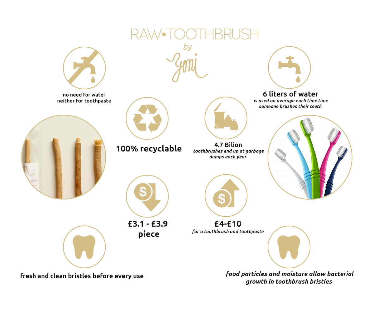 ecological footprint of rawtoothbrush by yoni