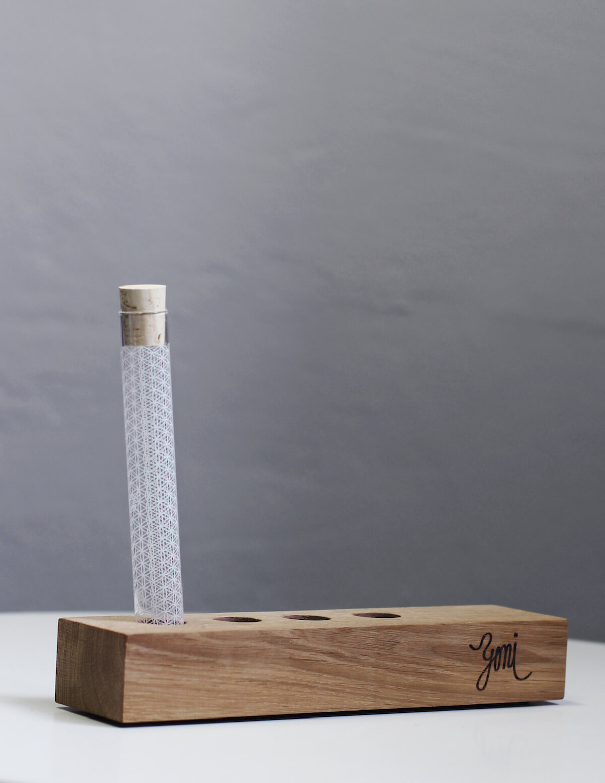 wooden holder for rawtoothbrush case